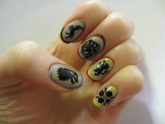 Game of Thrones Nails by JofoKitty
