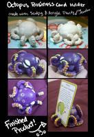 Sculpy Octopus Business Card Holder by iMandarr