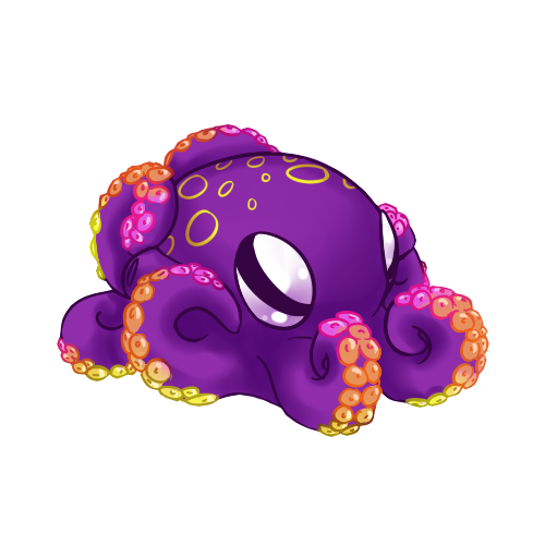 My octopus ink by imandarr on deviantart for Cute octopus drawing