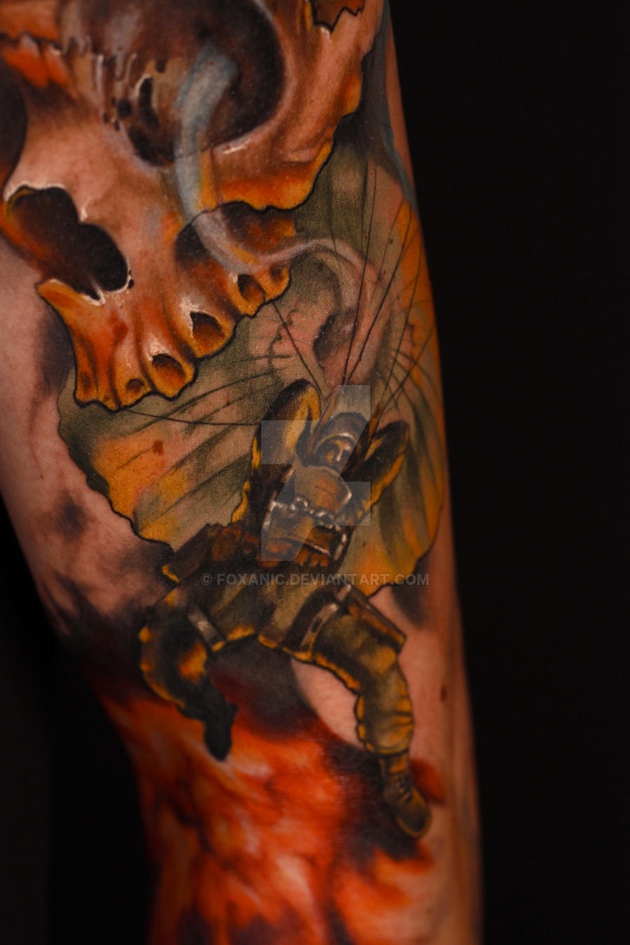 Paratrooper tattoo by foxanic