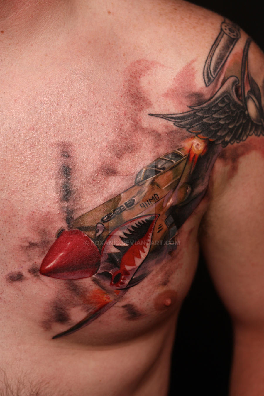p 40 warhawk tattoo by foxanic on deviantart. Black Bedroom Furniture Sets. Home Design Ideas