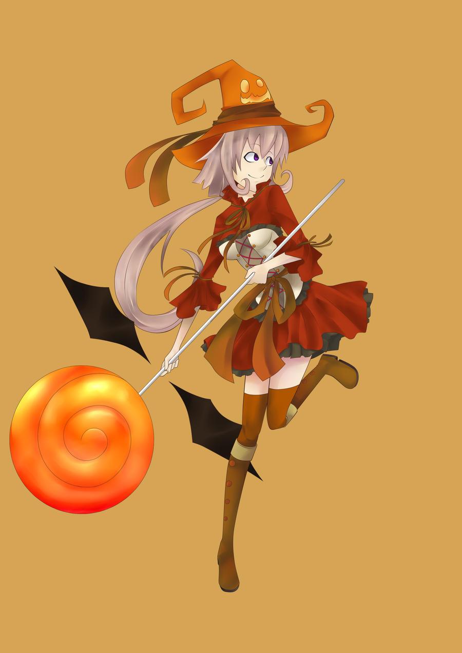 Pumpkin witch by Nintala