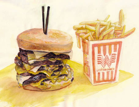 Wataburger Watercolor
