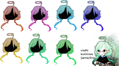 Fantage F2U Custom Hair : Angel's Halo by Kumiirose
