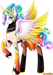 Princess Celestia - transparent background by mailNer