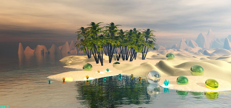 an island for Kai and Jim. by isider