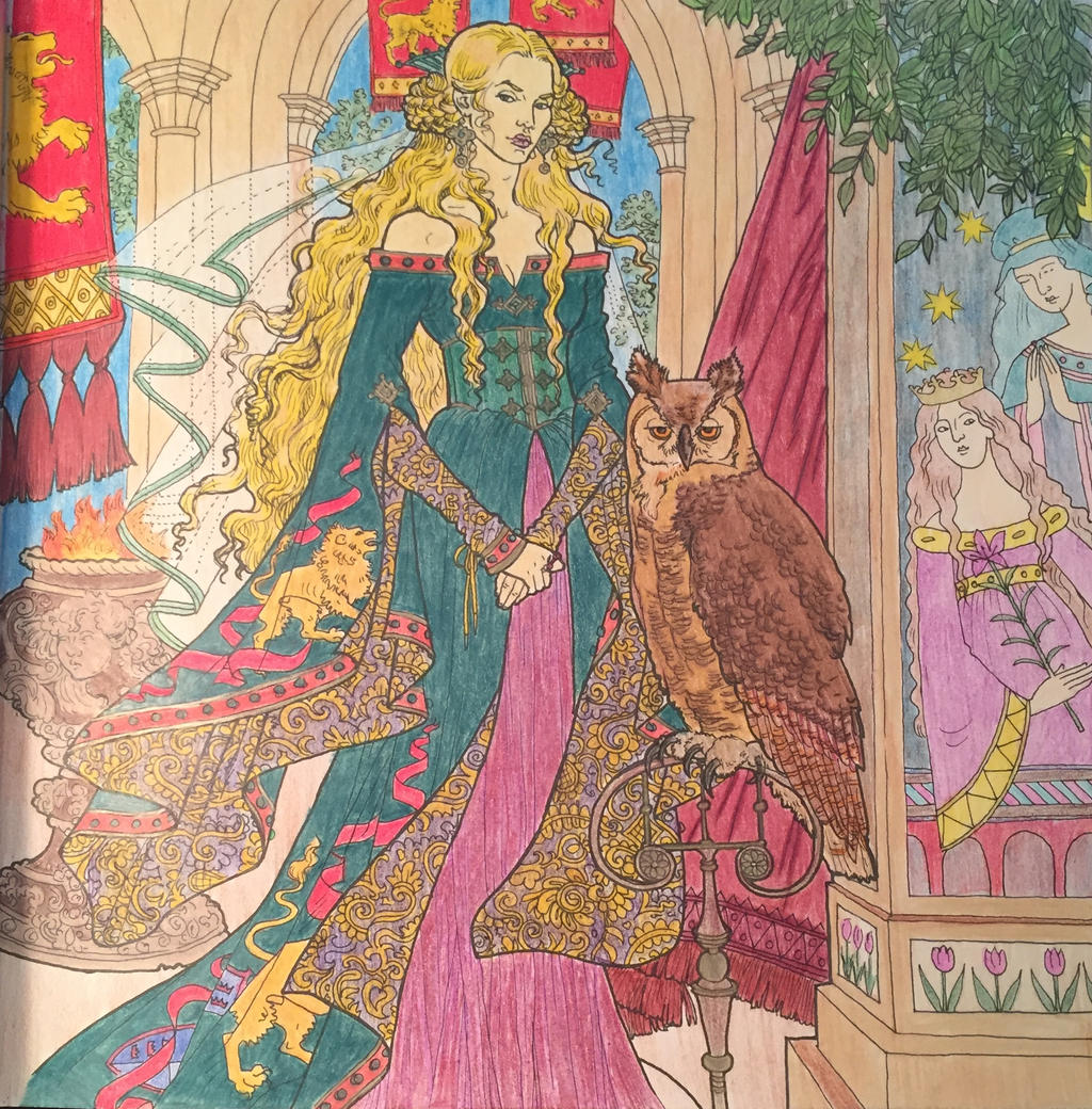 Game Of Thrones Coloring Book Cersei By Rickgrimes923