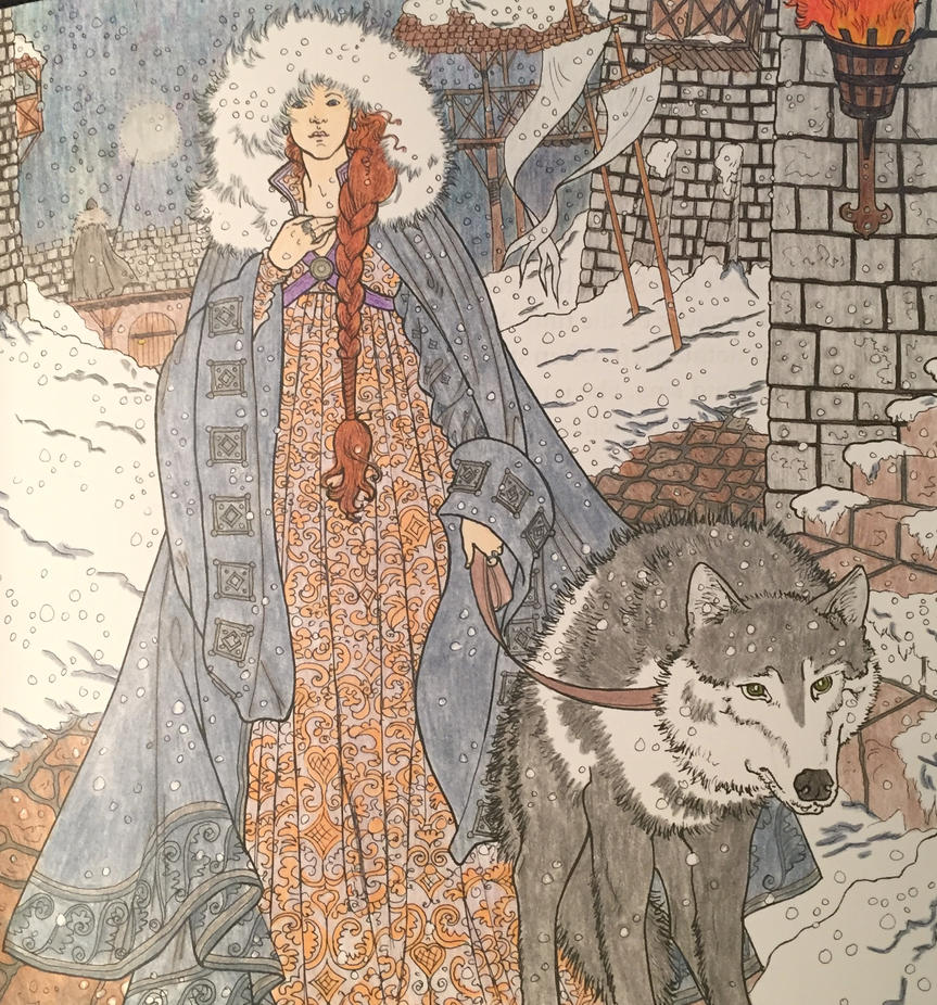 Game Of Thrones Coloring Book Sansa By Rickgrimes923 On