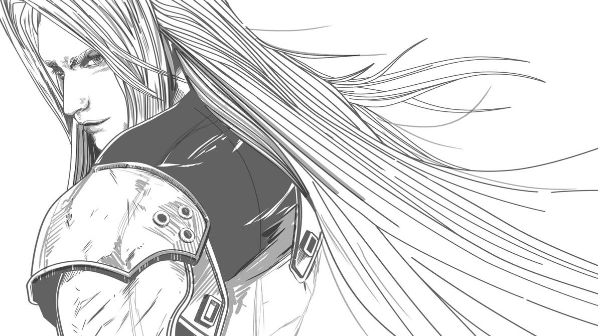 WIP - Sephiroth (FFVII) or Alucard (Castlevania)? by thefreshdoodle