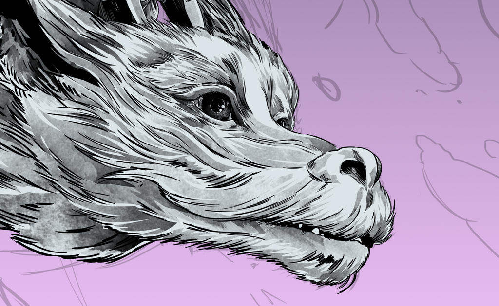 Wip Falkor by thefreshdoodle