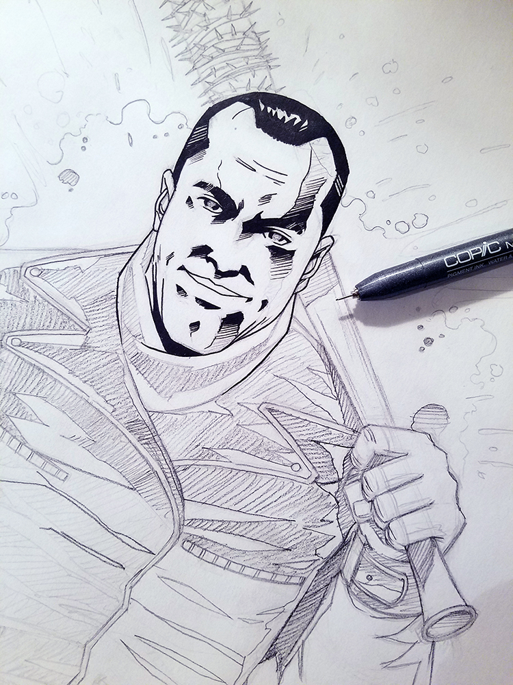 WIP - Negan (comic) by thefreshdoodle