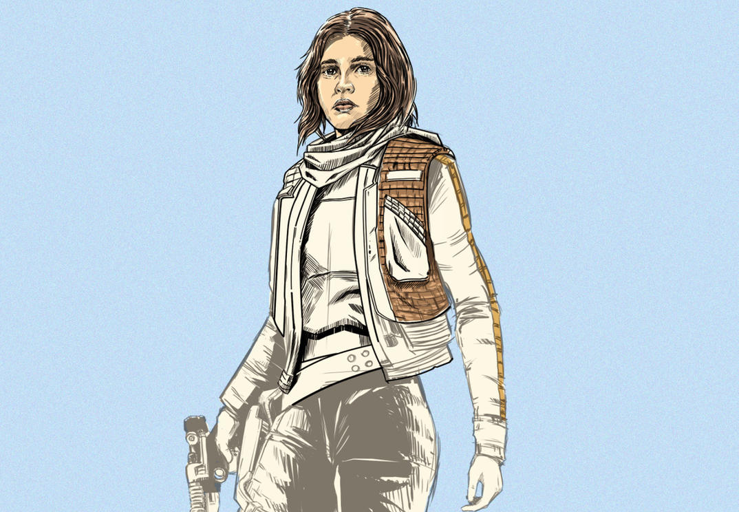 WIP - Jyn Erso by thefreshdoodle