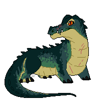 tiny crocodile by americaneagIe