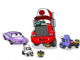 Kiddie Cars by Nevuela