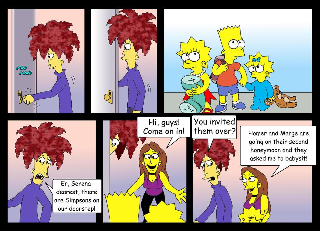 'Babysitter Bob' comic, pg. 1 by Nevuela
