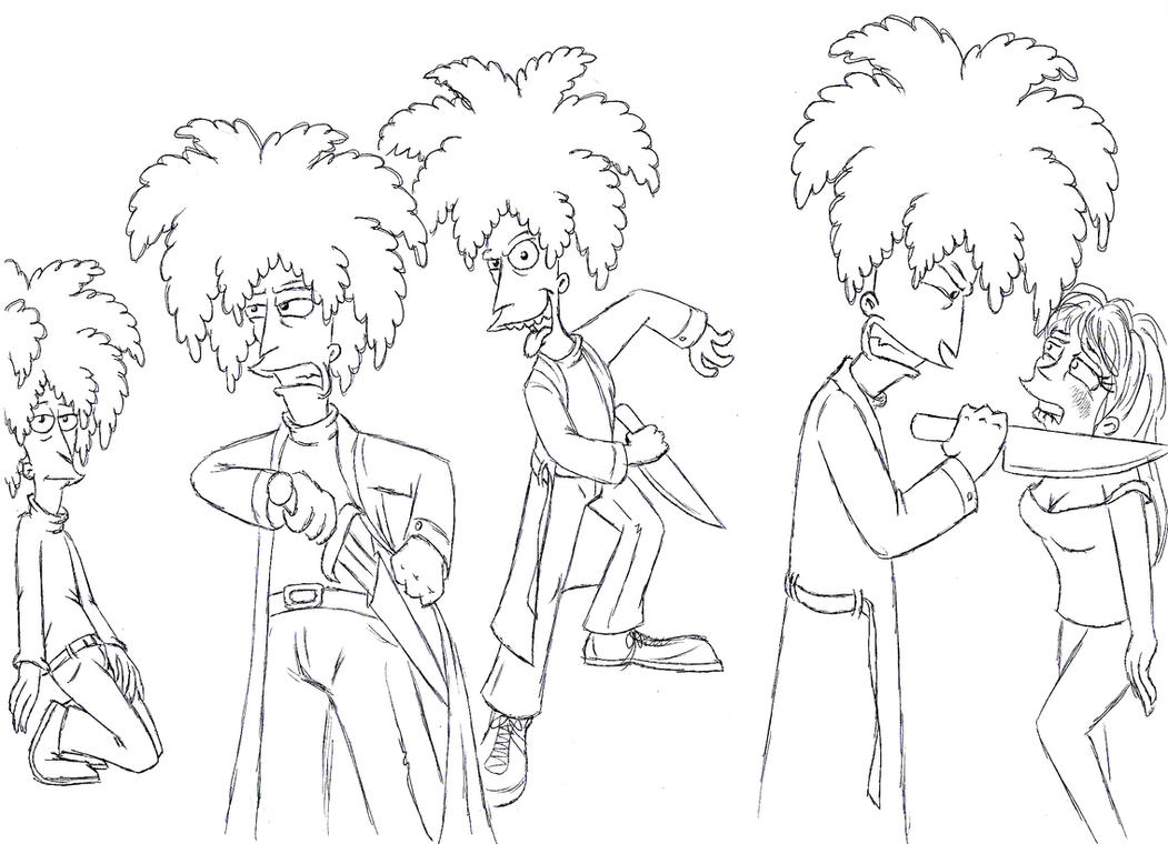 Sideshow Bob sketches 2 by Nevuela