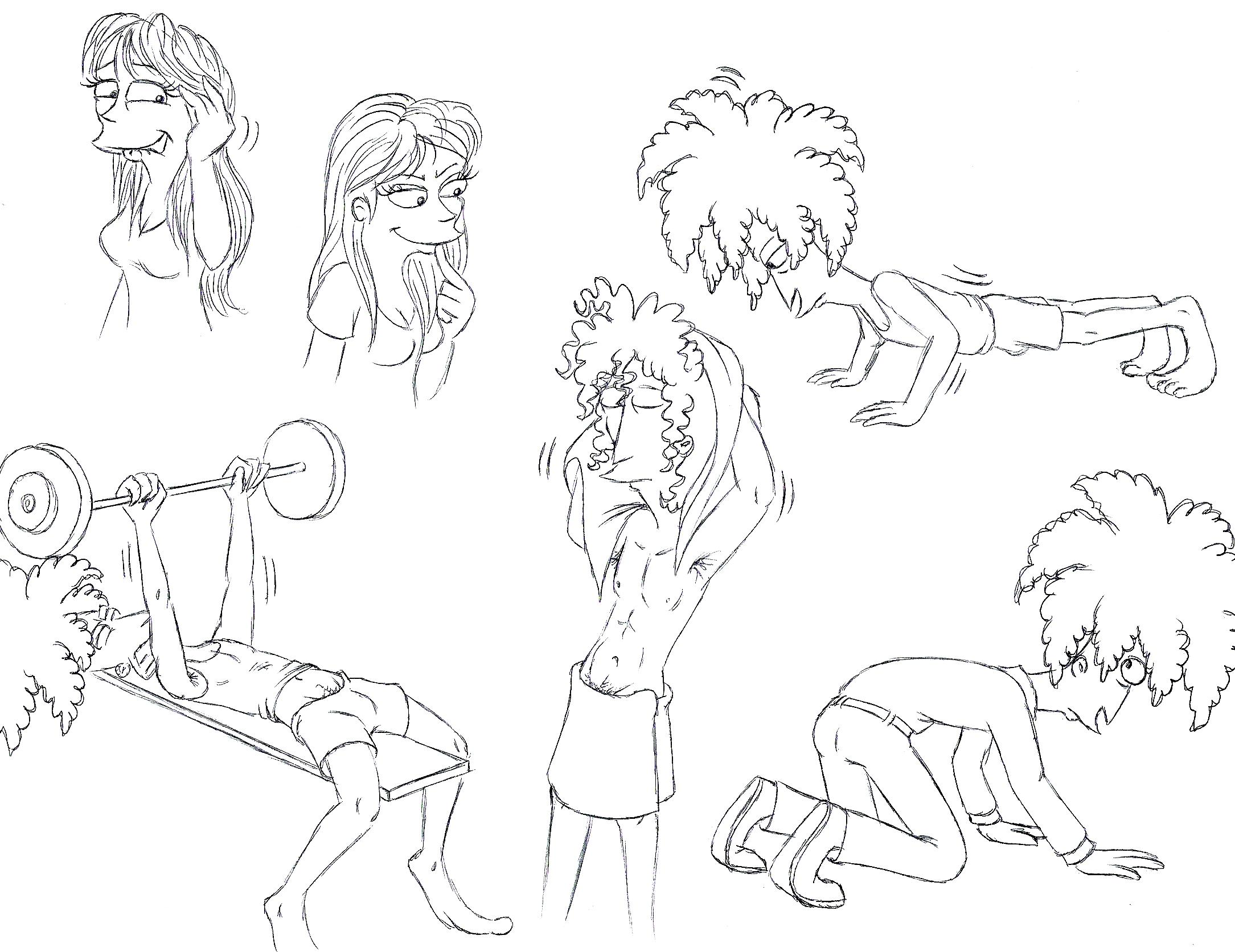 Sideshow Bob sketches 4 by Nevuela