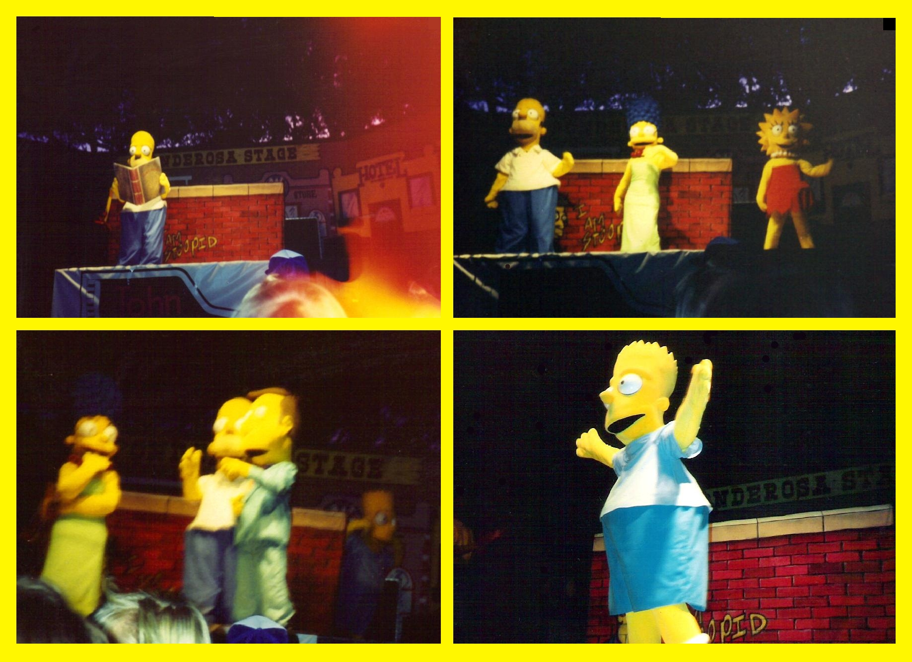 The Simpsons LIVE! circa 1990 by Nevuela