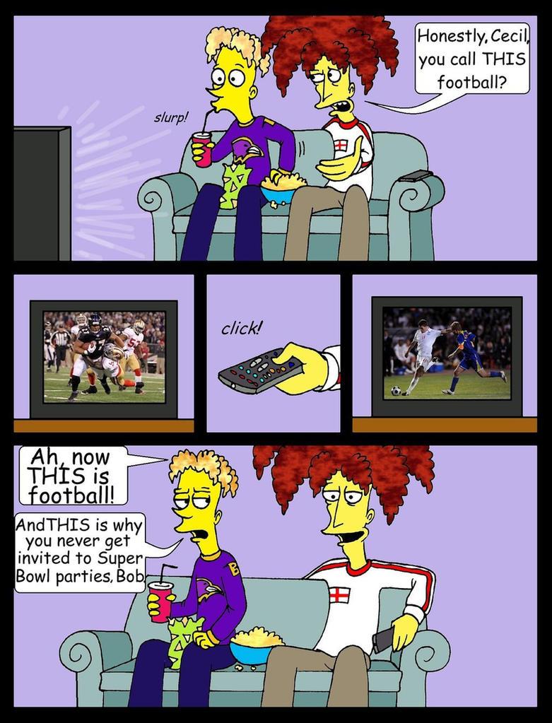 Football vs. Football by Nevuela