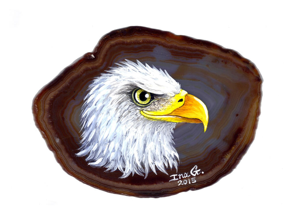 Bald Eagle on Agate by Nevuela