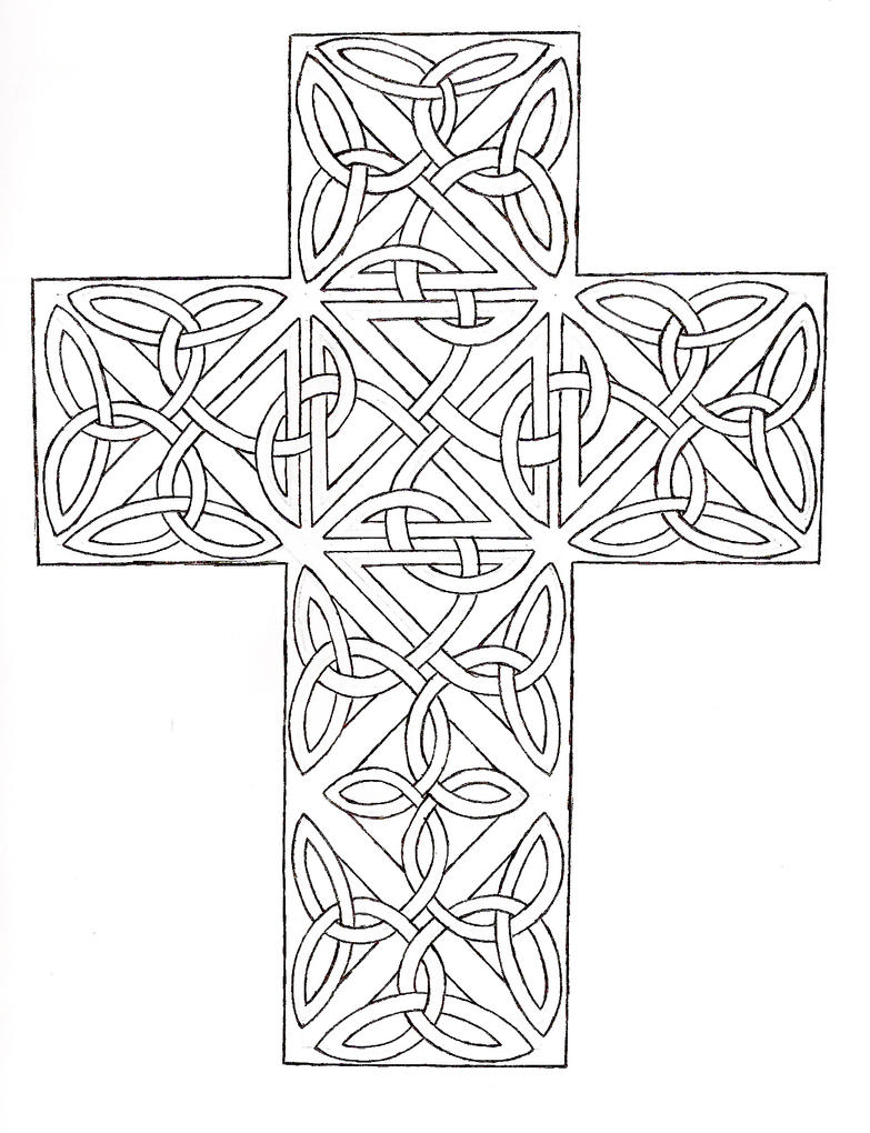 coloring pages crosses - adult cross coloring pages sketch coloring page