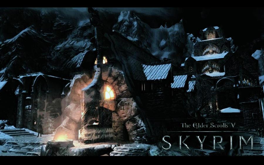 skyrim wallpaper hd. skyrim wallpaper hd. Skyrim Wallpaper - City Night