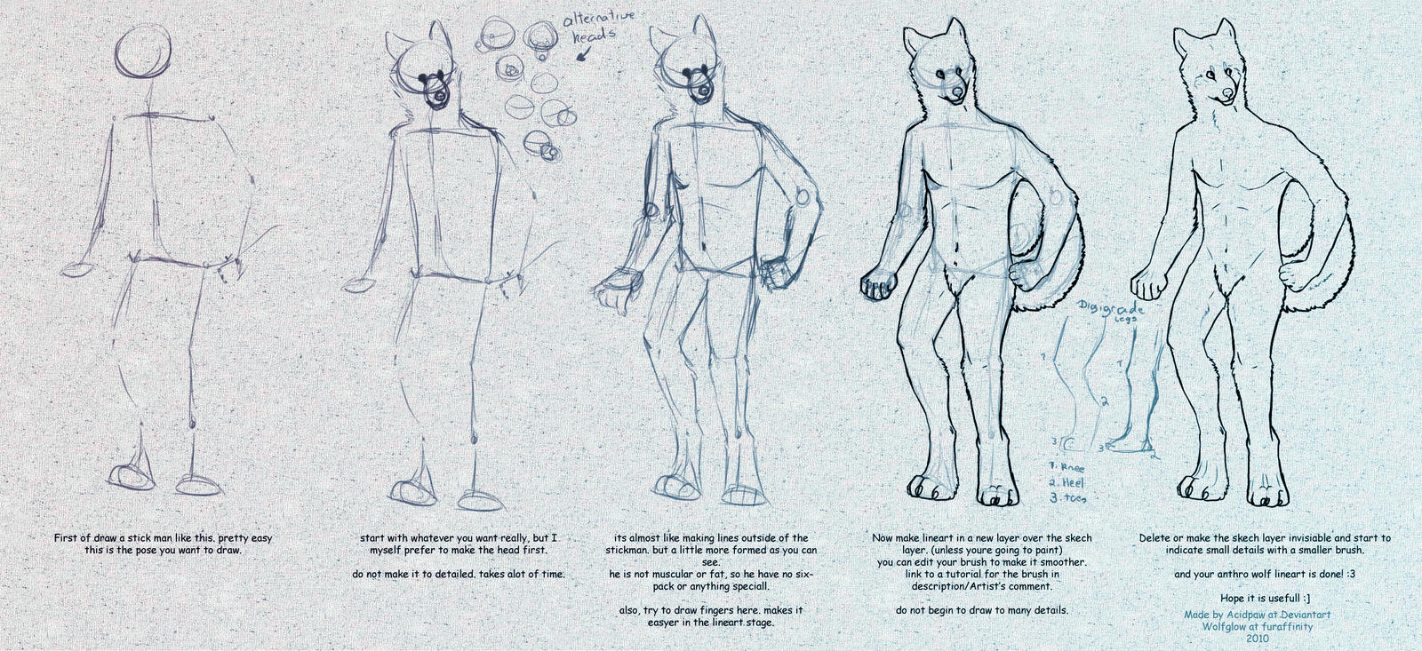 Anthro Wolf Tutorial Anthro Wolf Tutorial by