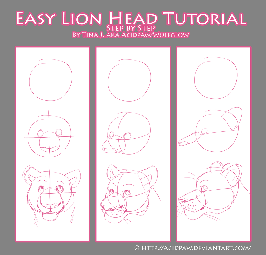 how to draw a easy lion head the best lion 2017