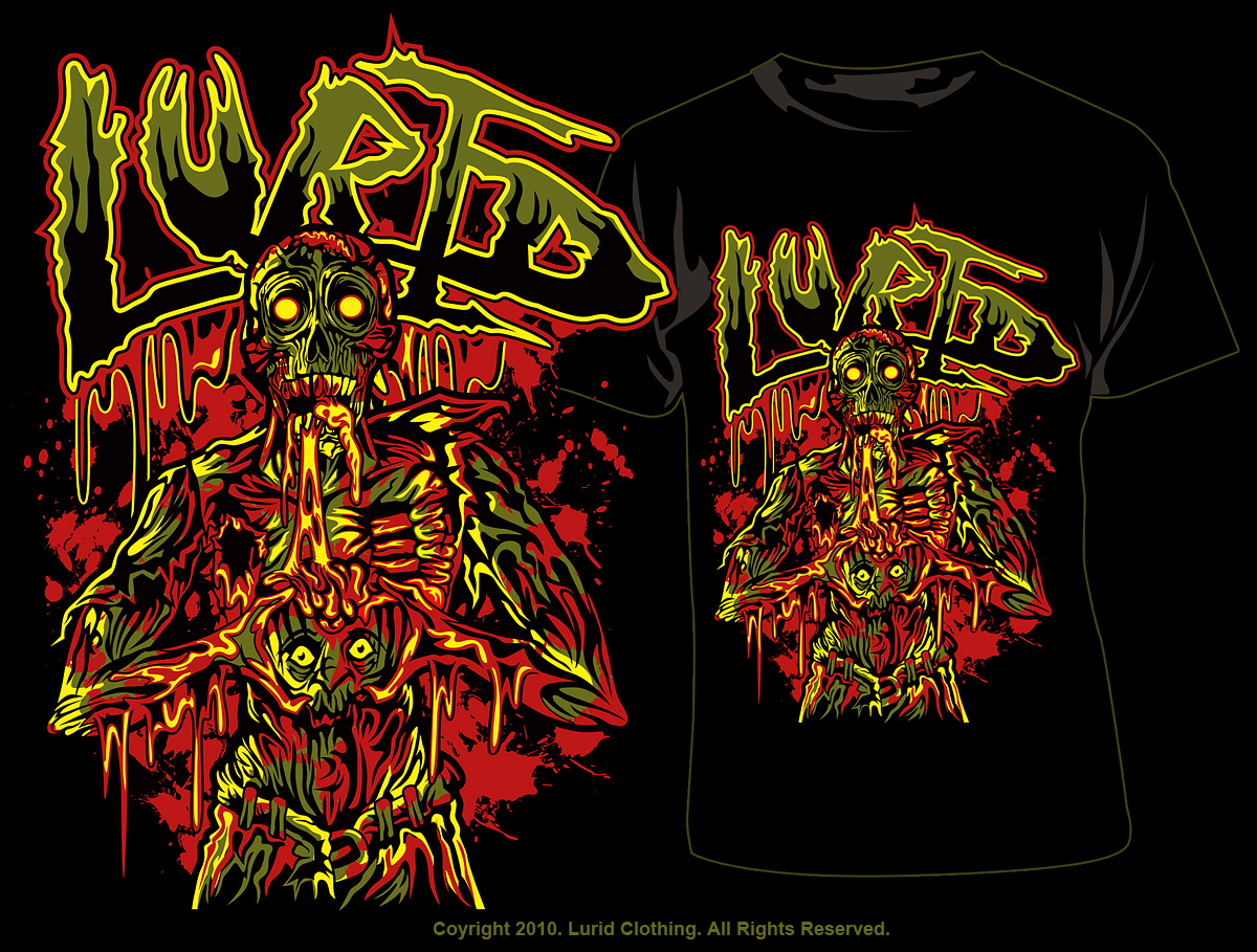 LURID- ZOMBIE TEE by deadspirit6