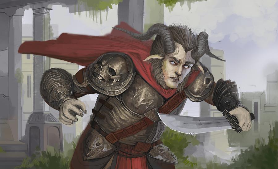 Goatman Knight by Zipfelzeus