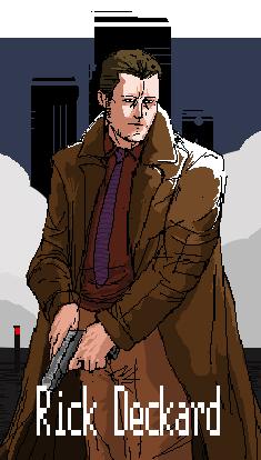 Pixel Rick Deckard by Zipfelzeus