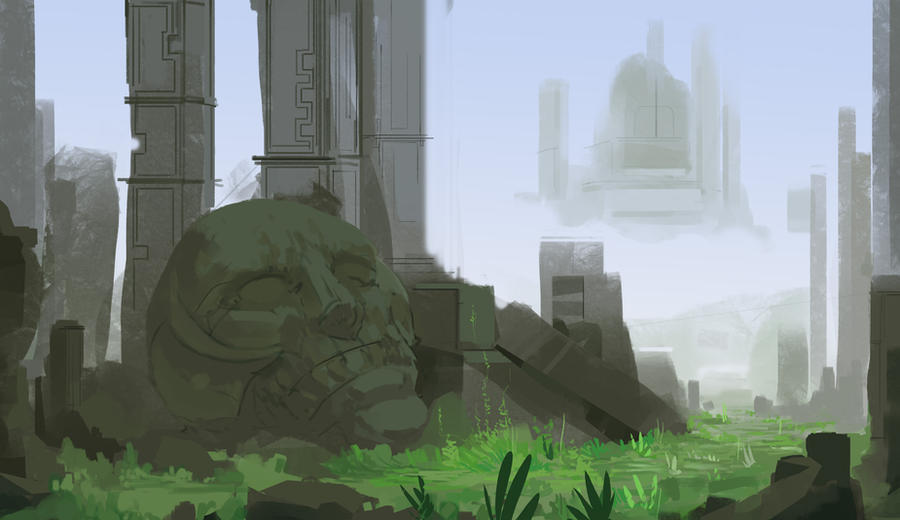 Landscape Sketch4 by Zipfelzeus