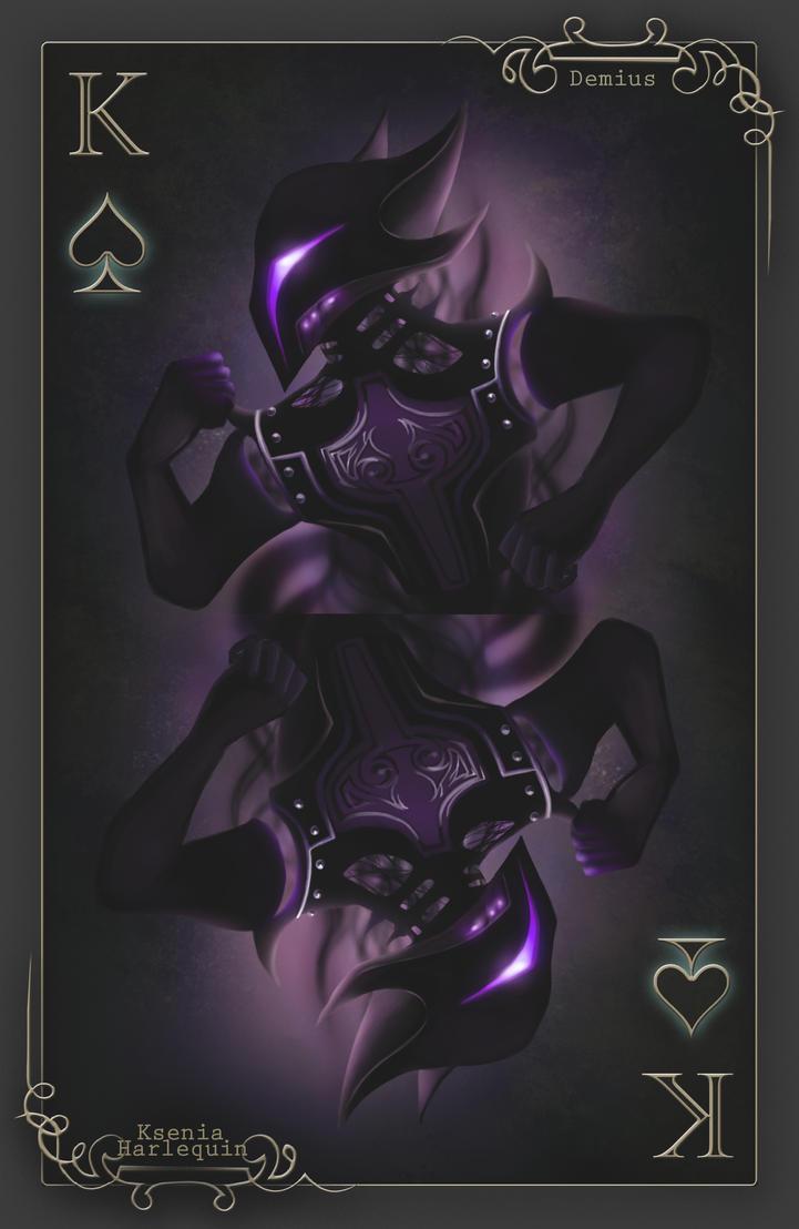 Playing card: King of Spades (Demius) by KseniaHarlequin