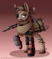 Metal Gear Ponies - Venom Snake by RainbowJune
