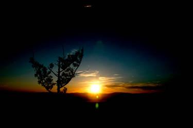 Sunset over Erdenet