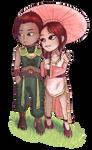[AT] Sakura and Azar by Exeidur