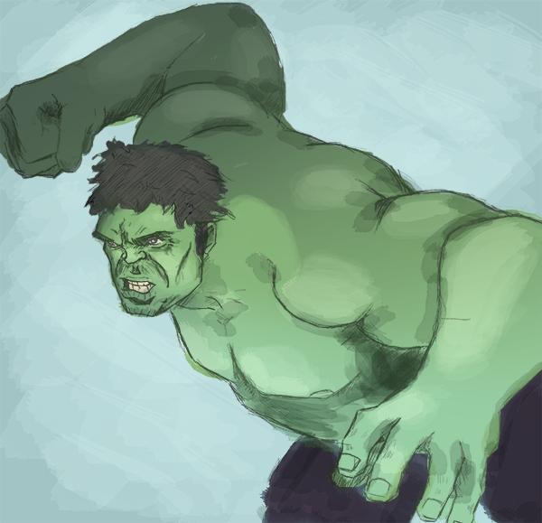 Hulk Speedpaint by riksa90