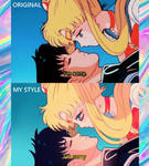 Re-drawing of Sailor Moon by Dachiro-kun
