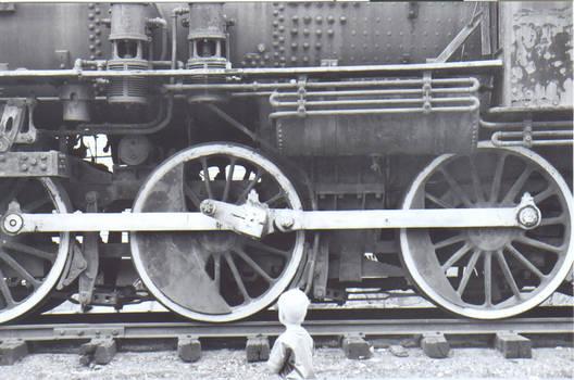 Engine 1395 and Tyler closeup