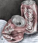 Coke cans II by Kimberleyelrebmik