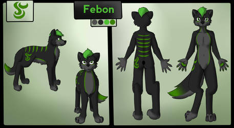 Commission - Febon Reference by PuppyMintMocha