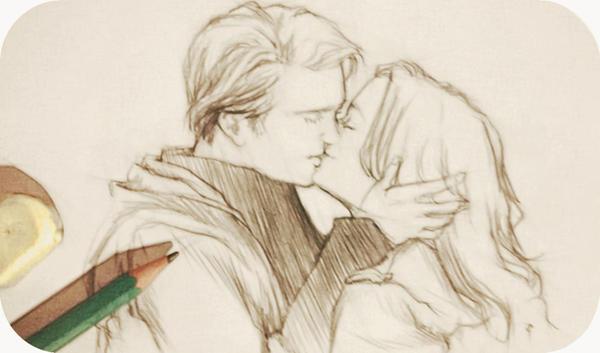 Twilight sketchdump kiss by Rochioo