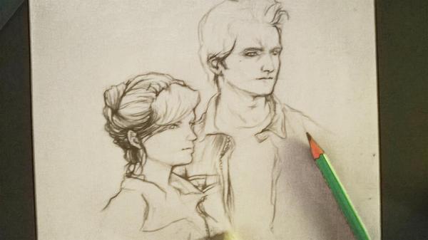 Carlisle and Esme sketch by Rochioo