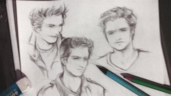 Sketching Edward by Rochioo