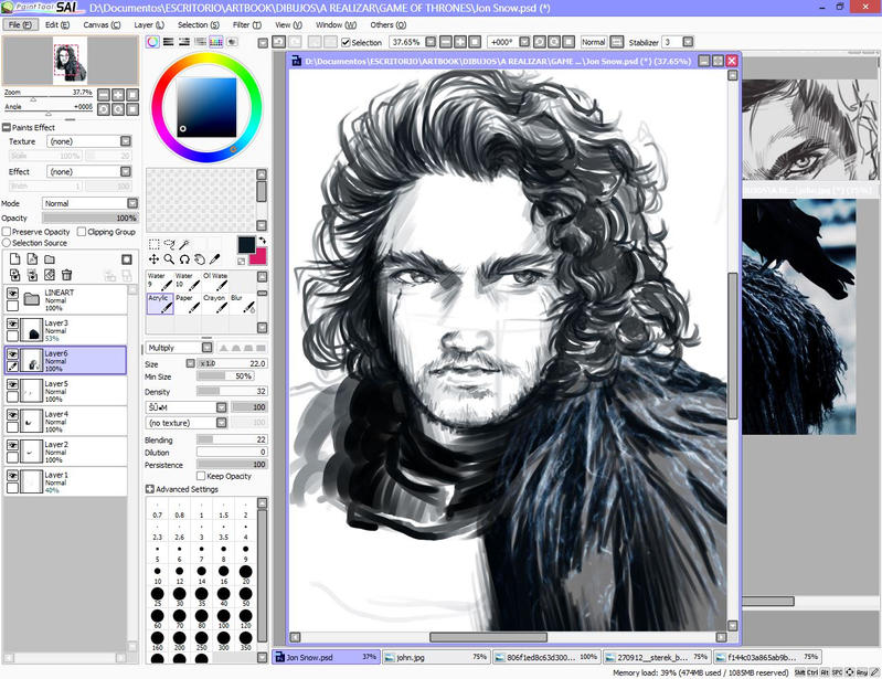 Quick sketch of Game of Thrones by Rochioo