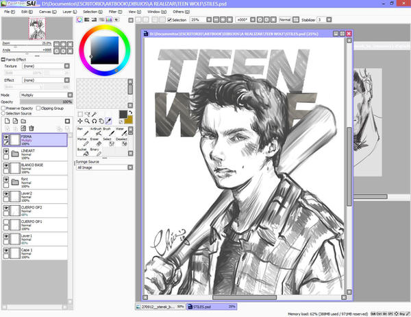Teen wolf Commission 2 by Rochioo