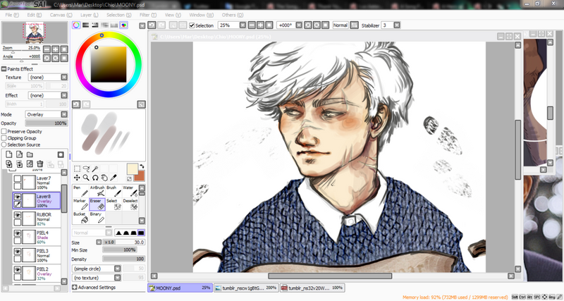 Coloring Remus Lupin by Rochioo