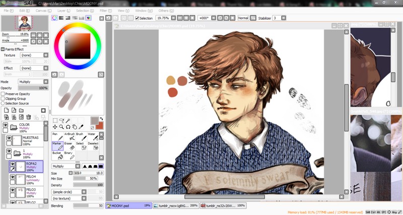 Coloring Remus Lupin 2 by Rochioo