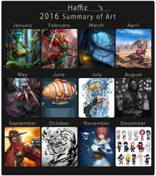 2016 Summary of Art by KangHaffiz
