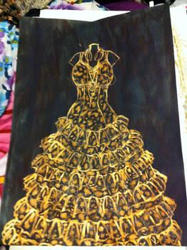 Lily Allen's childhood museum dress